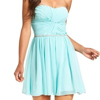 Roberta Juniors' Strapless A-Line Dress