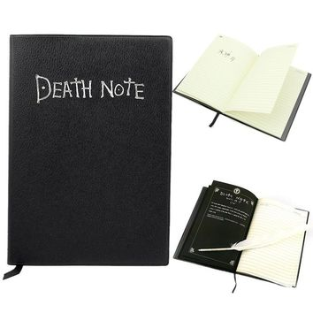 Cobee Notebook + Feather Pen Writing Book Notebook Cosplay Japanes Anime Theme Cool Death Note Journal planner School Supplies