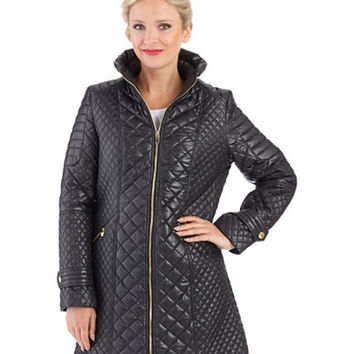 Via Spiga Quilted Walker Coat
