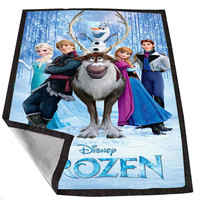 frozen character 01bf9dee-d561-4766-963c-58e46faaee5c for Kids Blanket, Fleece Blanket Cute and Awesome Blanket for your bedding, Blanket fleece *02*