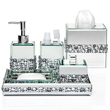 Ricci vanity collection vanity set from z gallerie for Bathroom accessories with rhinestones