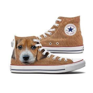 big face beagle converse high tops