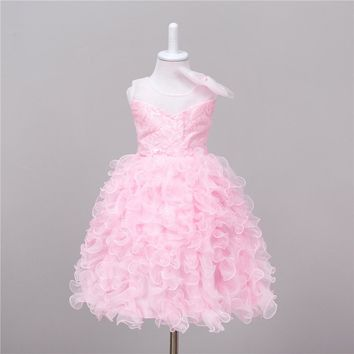 2017 New Years Flower Girls Dress For Wedding And Party Infant Princess Girl  Dresses Costume Baby Kids Clothes Children dreses