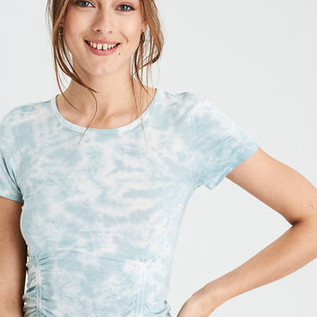 AE Soft & Sexy Double Cinch Front T-Shirt , Teal