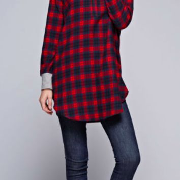 Lady Lumberjack Tunic with Hoodie Accent