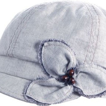 Acorn Women's Shiloh Jockey Military hat Chambray