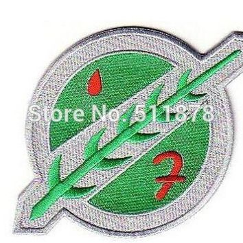 "4"" STAR WARS BOBA FETT ARMOUR TV Movie Series Halloween Costume Embroidered iron on patch TRANSFER"