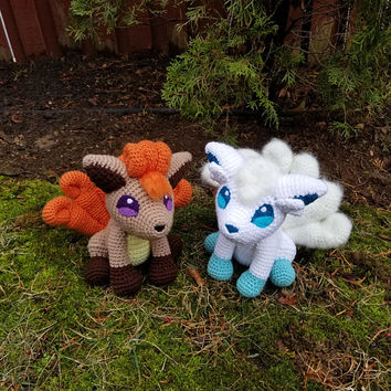 Pokemon Inspired: Vulpix Amigurumi (Crochet Plushie/Plush Toy) - Kanto and Alola - MADE TO ORDER!