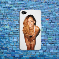 Hot Rihanna iPhone Case Pretty Pose Cute Girl Woman Singer Music Phone Cover iPhone 4 iPhone 5 iPhone 4s iPhone 5s iPhone 5c Case