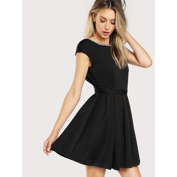 Dare To Flare Dress - Black