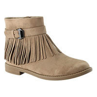 Bella Marie Taupe Fringe Marcy Boot | zulily