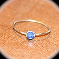 Aquamarine Sterling Silver Thin Ring, Stacking Ring, March Birthstone Ring, Midi Ring, Knuckle Ring, March Gemstone Ring