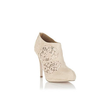 Tabitha Nude Lace Panel Heel - Heels  - Shoes