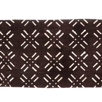 African Mudcloth Lumbar Pillow Cover