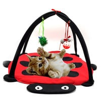 Pet Cat Bed Toys Mobile Activity Playing Bed, Toys Cat Bed Pad Blanket House, Pet Furniture Cat Tent Toys Free Shipping
