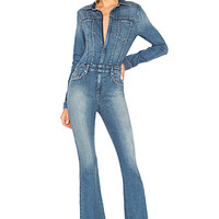 Hudson Jeans Holly Long Sleeve Coverall in Rambler | REVOLVE