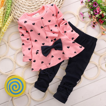Heart Prints Clothing Set