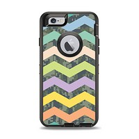 The Vibrant Colored Chevron With Digital Camo Background Apple iPhone 6 Otterbox Defender Case Skin Set