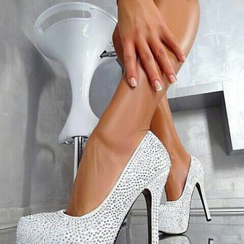Sexy Diamond waterproof heels