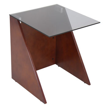 Tabulo Side Table Walnut / Smoked Glass