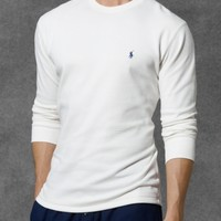 Waffle-Knit Crewneck Thermal - Sleepwear & Robes   Men - RalphLauren.com