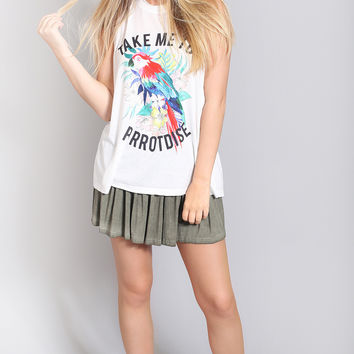 show me your mumu: mikey muscle tank - parrotdise graphic