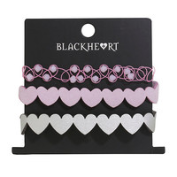 Blackheart Cutout Hearts Bracelet 3 Pack