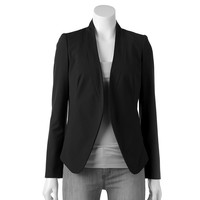 Apt. 9 Solid Collarless Blazer