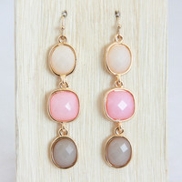 Pink Spectrum Drop Earrings
