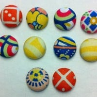 Decorative Asita Fabric Thumbtacks/Push Pins Set of 10