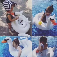 Baby White Swan Swimming Water Fun Pool Toy Chair