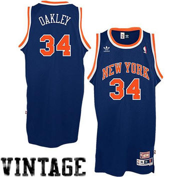 Charles Oakley New York Knicks adidas Hardwood Classics Soul Swingman Throwback Jersey – Blue