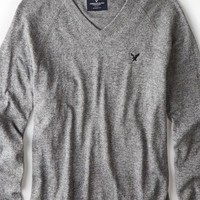 AEO Men's Solid V-neck Sweater
