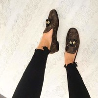 Louis Vuitton  Old ladies shoes with low heel heel shoes