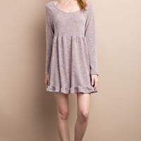 Hacci Knit Mauvelous Dress