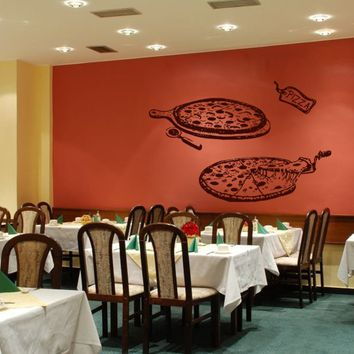 ik1036 Wall Decal Sticker pizza Pizzeria Italian Restaurant Pizzeria Italy