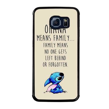 STITCH LILLO OHANA FAMILY QUOTES Samsung Galaxy S6 Edge Case Cover