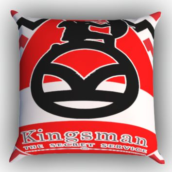 kingsman logo X0329 Zippered Pillows  Covers 16x16, 18x18, 20x20 Inches