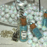 Something Blue, Happily Ever After Magic Dust Necklace, Castle Charm Fairy Tale Disney, Necklace ONLY