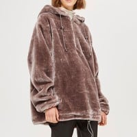 Faux Fur Hoodie by Story of Lola
