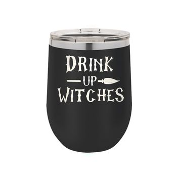 Black Drink Up Witches 12oz Insulated Tumbler