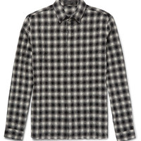 Haider Ackermann - Checked Wool and Cotton-Blend Shirt