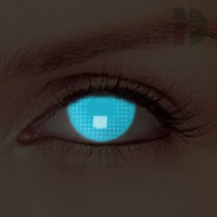 iD Lenses Blue Screen Glow In The Dark Contacts