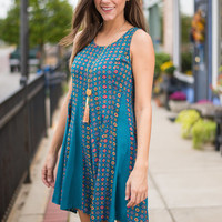 Moroccan Muse Dress, Teal