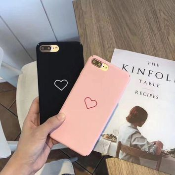 ESBONTJ Hot Deal On Sale Stylish Cute Iphone 6/6s Korean Simple Design Matte Phone Case [46978859020]