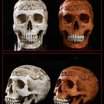 precision  carved  skulls  grade  resin    skull  Hallowe