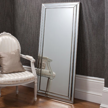Erias Home Designs Chambery Leaner Pewter Mirror