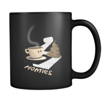 "Funny Coffee Mug ""Coffee Poop Homies!""-11 oz Ceramic Coffee Mug by Lifehiker Designs"