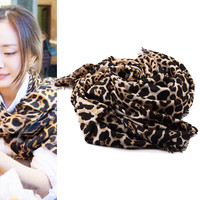 Exotic Leopard Print Scarf