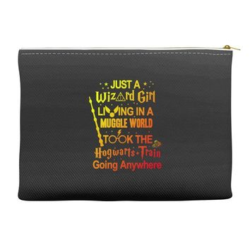 Just A Wizard Girl Living In A Muggle World Accessory Pouches